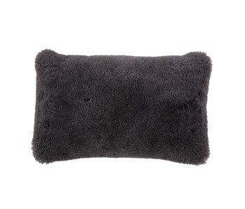 Bloomingville Sheepskin cushion - gray