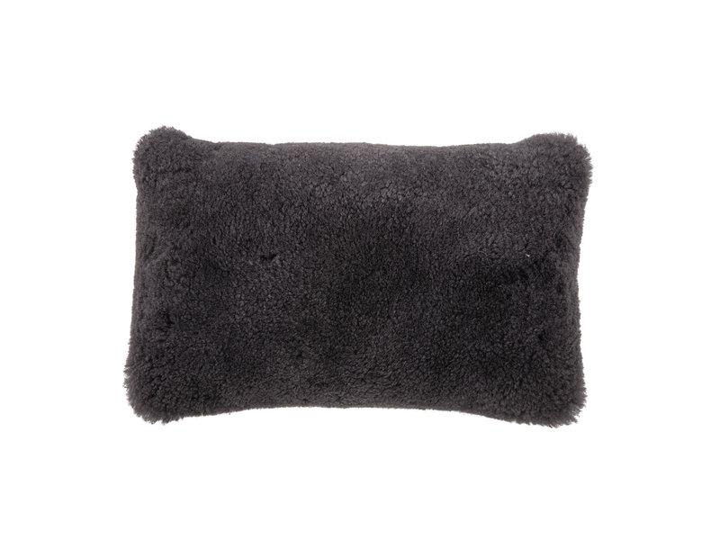 Bloomingville Kussen schapenvacht - grijs