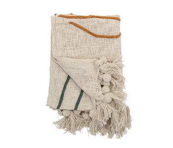 Bloomingville Throw cotton natural - 150x125cm
