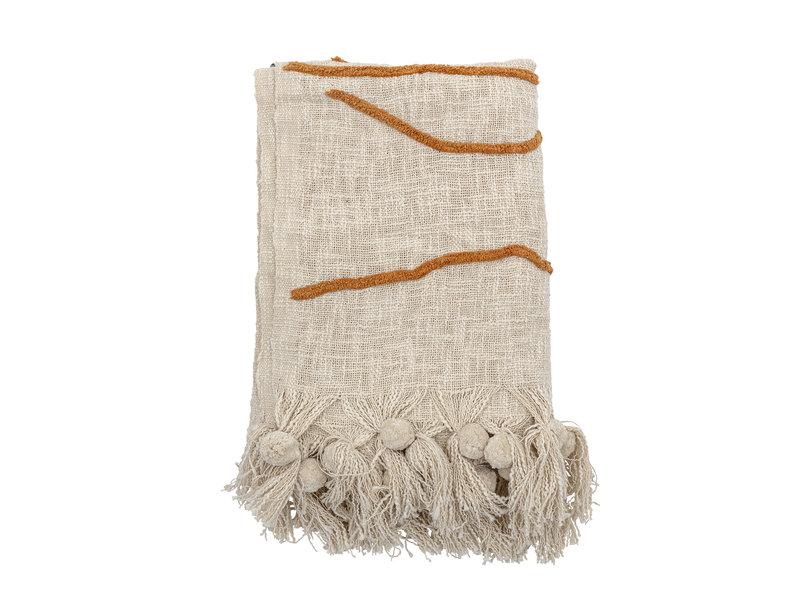 Bloomingville Baumwolle natürlich werfen - 150x125cm
