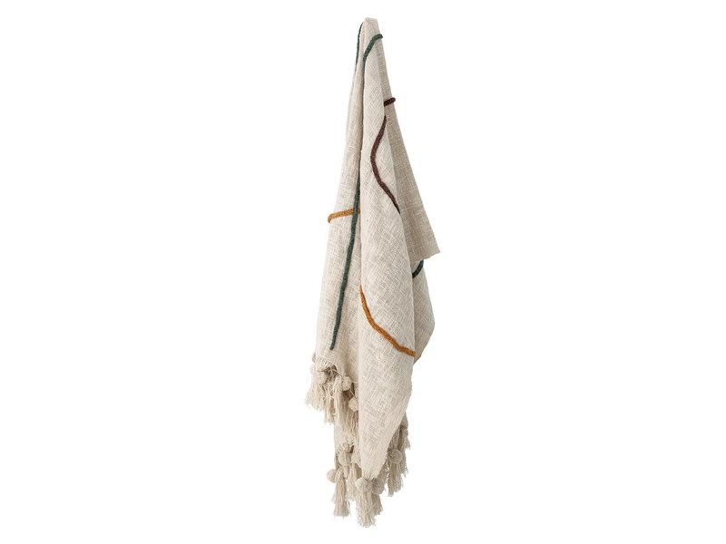 Bloomingville Plaid katoen naturel - 150x125cm