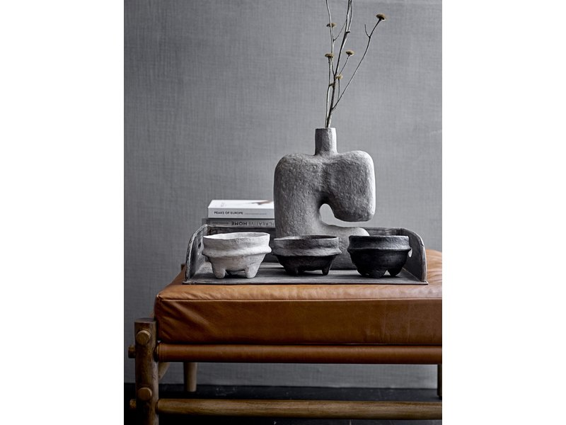 Bloomingville Recycled wood tray - black