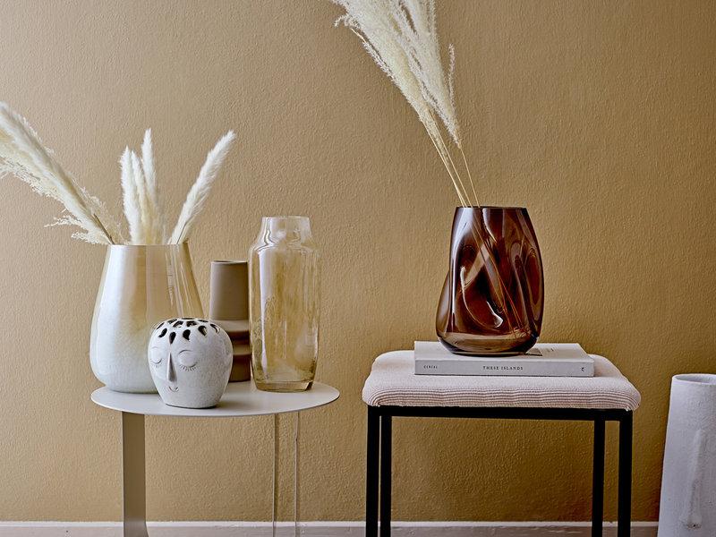 Bloomingville Terracotta vase - white