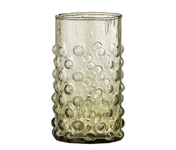Bloomingville Freja drinking glass green - set of 6 pieces