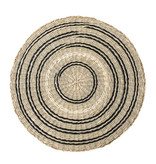 Bloomingville Seagrass placemats - black / natural- set of 6 pieces