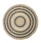 Bloomingville Seagrass placemats - sort / naturligt sæt med 6 stykker