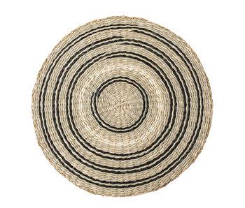 Bloomingville Seagrass placemats - svart / naturlig-uppsättning av 6 stycken