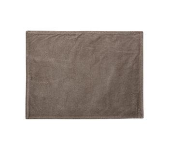 Bloomingville Manteles individuales de algodón marrón - juego de 6 piezas