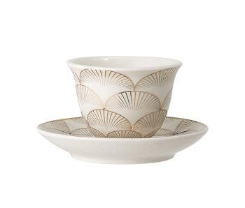 Bloomingville Aruba espresso cup and saucer - set of 6 pieces
