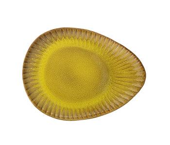 Bloomingville Cala platta gul - uppsättning av 4 delar L34xH2.5xW25,5 cm