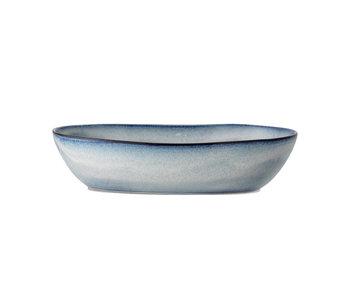 Bloomingville Sandrine serveringsskål blå - L32xH7.5xW20 cm