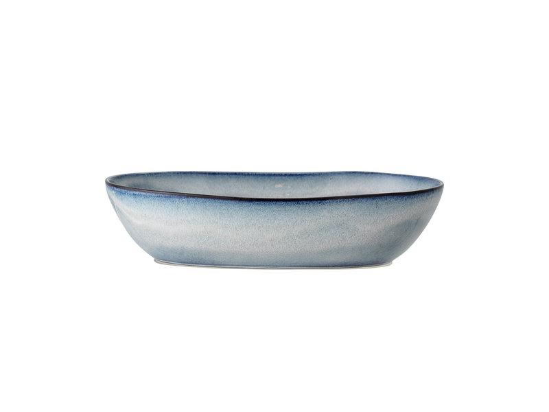 Bloomingville Sandrin serveringsskål blå - L32xH7.5xW20 cm