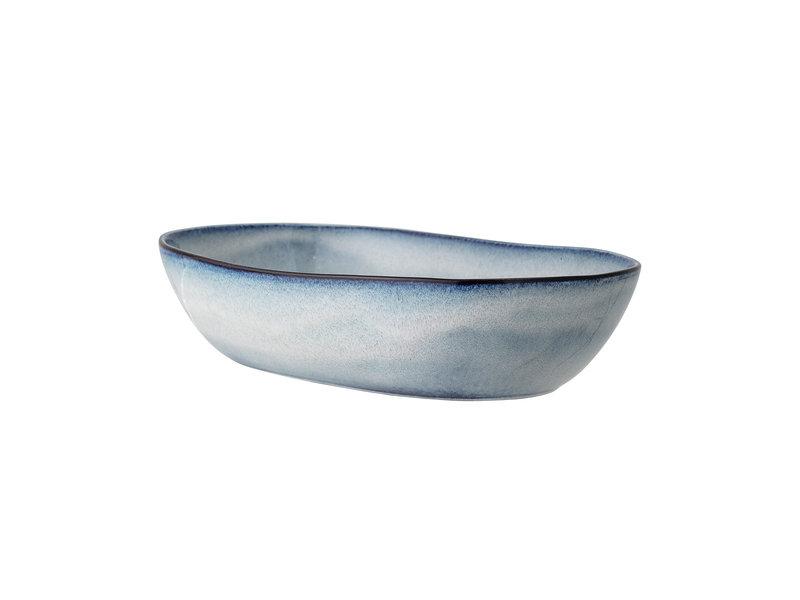 Bloomingville Sandrine serveerschaal blauw - L32xH7,5xW20 cm