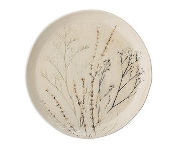 Bloomingville Bea plate naturlig - sett med 6 stk Ø27,5 cm