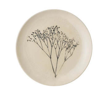Bloomingville Bea plate naturlig - sett med 6 stk Ø22 cm