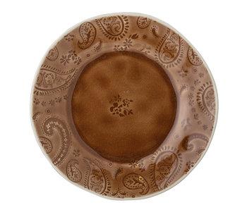 Bloomingville Assiette Rani marron - set de 6 pièces Ø22cm