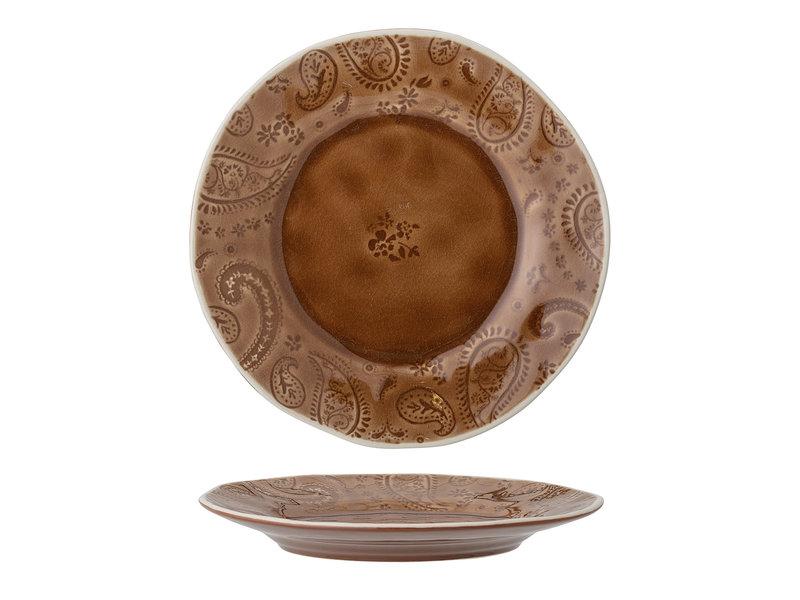 Bloomingville Rani plate brown - set of 6 pieces Ø22cm