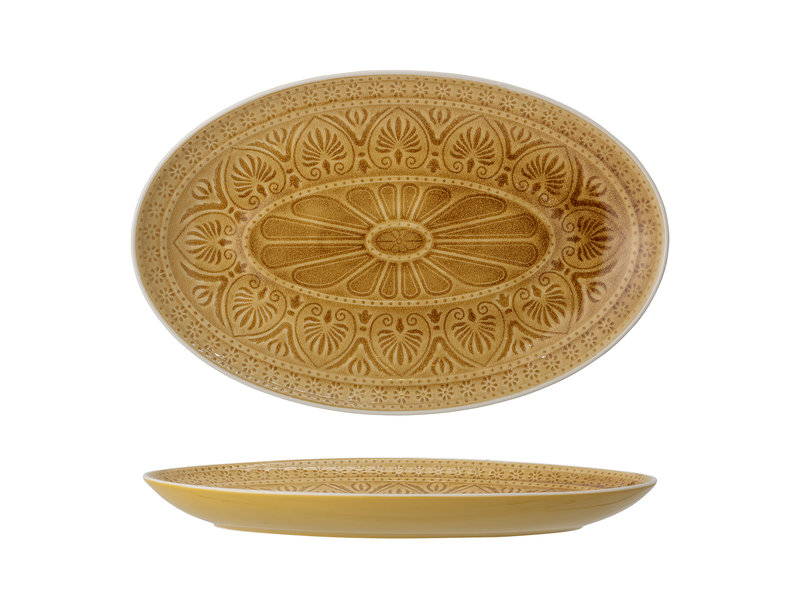 Bloomingville Rani serving plate yellow
