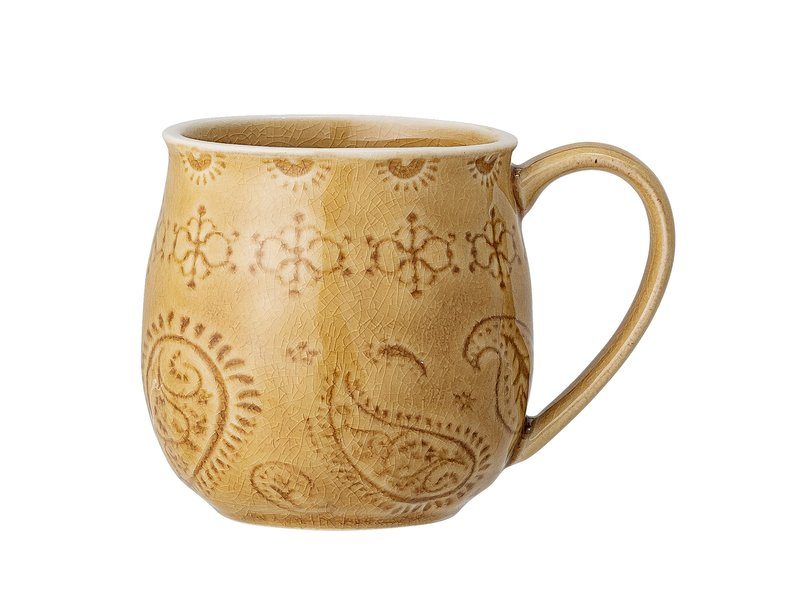Bloomingville Rani mugs yellow - set of 6 pieces