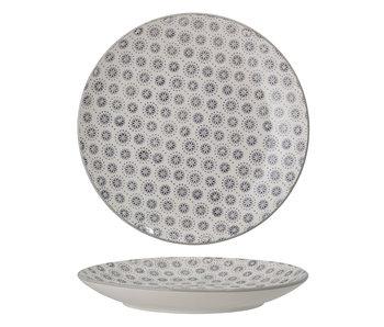 Bloomingville Elsa plate gray - set of 6 pieces Ø20.5 cm