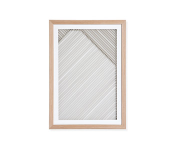 HK-Living Papel laminado Art frame B - natural / blanco