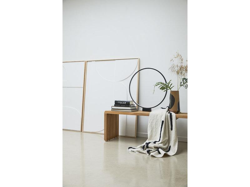 HK-Living Tufted plaid - naturel/zwart 130x170cm
