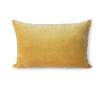 HK-Living Cojín de terciopelo - dorado 40x60cm
