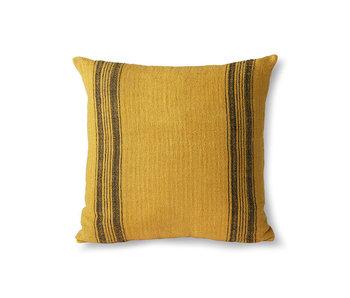 HK-Living Coussin en lin - moutarde 45x45 cm