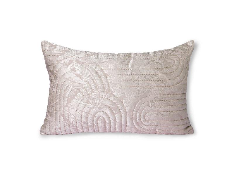 HK-Living Gewatteerd kussen -nude/roze 40x60cm