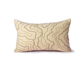 HK-Living Cream cushion with lines - 30x50cm