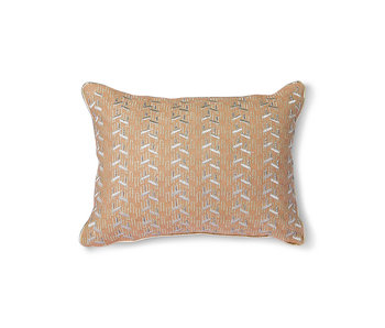 HK-Living Nude cushion with silver patches - 30x40cm