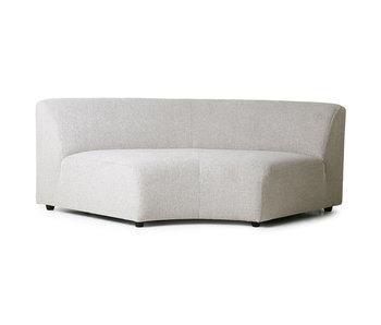 HK-Living Jax modulopbygget sofamodul rund snig lysegrå
