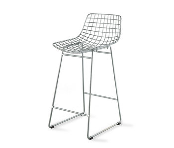 HK-Living Wire barstool chrome