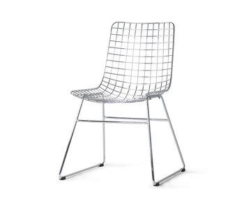 HK-Living Chaise en fil de métal chromé