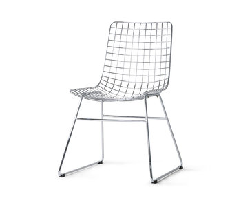 HK-Living Metal wire chair chrome