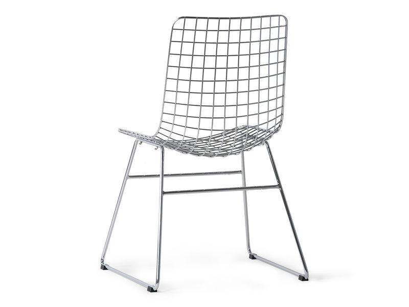 HK-Living Metalen draadstoel chrome