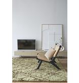 HK-Living Webbing loungestoel - zwart/naturel