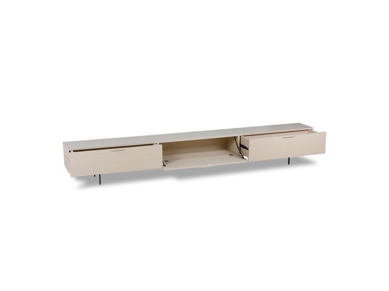 HK-Living Porta TV in legno - sabbia 250 cm