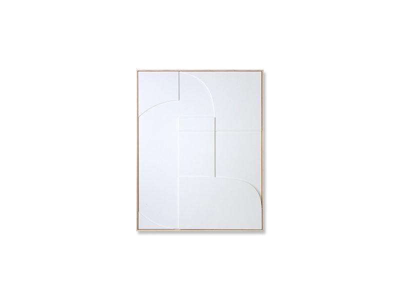 HK-Living Panel de arte en relieve del marco A 60x80cm
