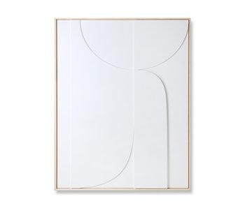 HK-Living Panneau d'art en relief avec cadre L 97x120cm
