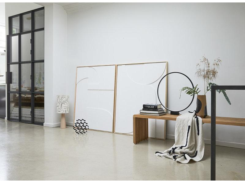 HK-Living Panel de arte en relieve del marco A 97x120cm