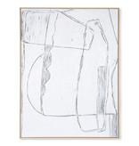 HK-Living Rahmen Brutalismus Malerei - weiß 120x160cm