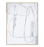 HK-Living Ramme brutalismemaleri - hvid 120x160cm