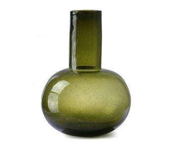 HK-Living Green vase glass L