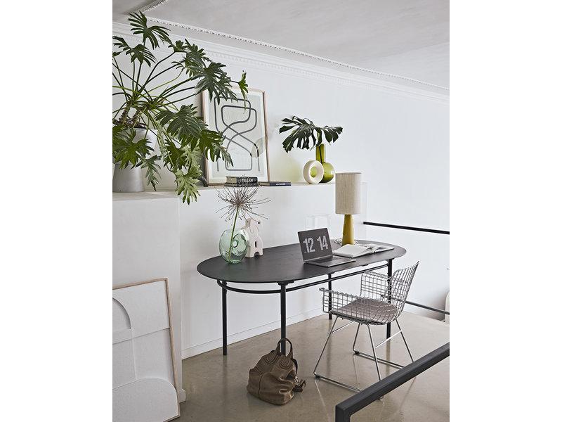 HK-Living Vaso verde in vetro L