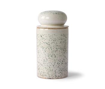 HK-Living Ceramic 70's storage jar - hail