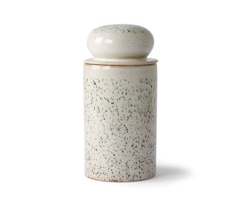 HK-Living Keramik 70er Jahre Vorratsglas - Hagel