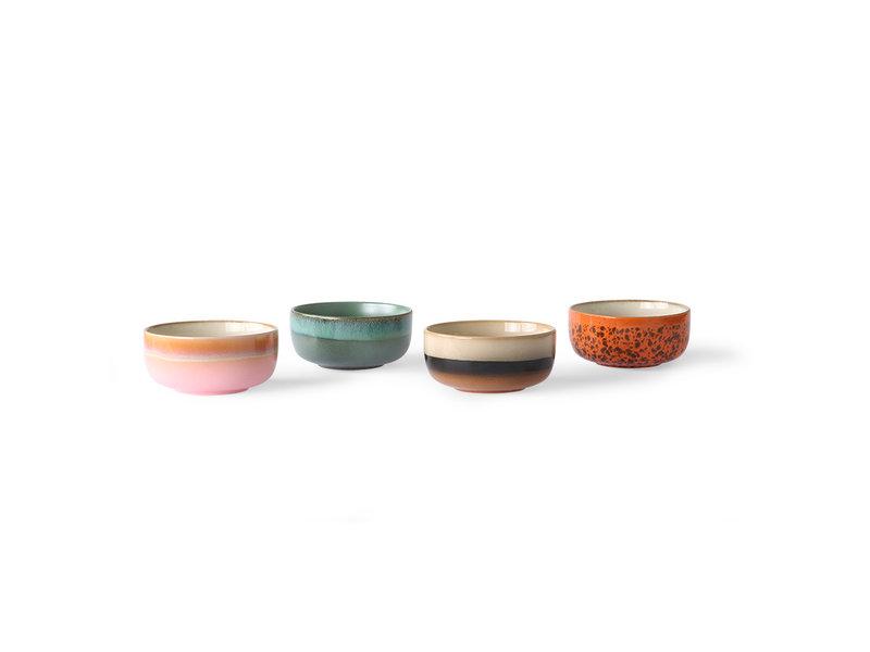 HK-Living Ensemble de bols à dessert en céramique des années 70