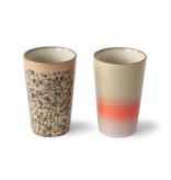 HK-Living Tazze da tè in ceramica anni '70 - set di 2 pezzi