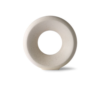 HK-Living Florero circular de cerámica M - moteado
